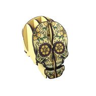Yellow Candy Skull Pen Holder Puzzle