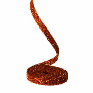 RAZ Orange Glittered Garland
