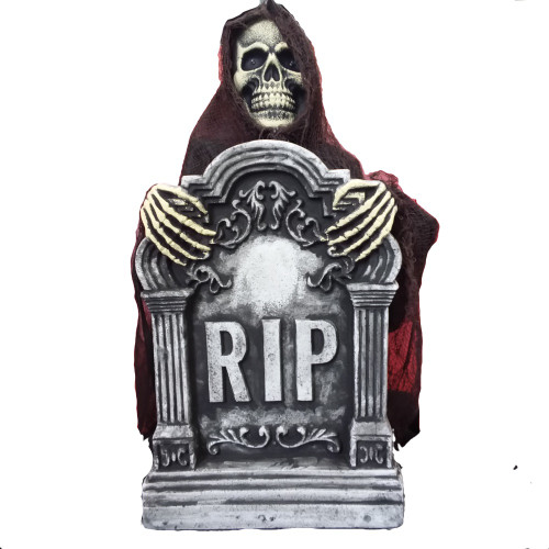Animated Spooky Ghost Tombstone