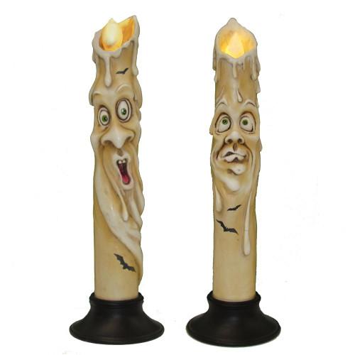 Kurt Adler Led Haunted Ghost Face Candle Lights