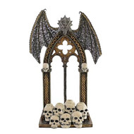 Katherines Dragon and Skulls Medieval Wall Piece