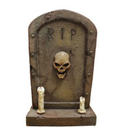Outdoor Halloween Tombstone With 2 Candles