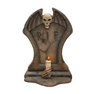 Gravestone With Candle