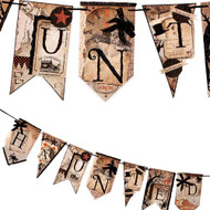 Haunted Into The Woods Pennant Garland