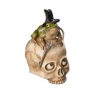 Bethany Lowe Toady On Skull - 31cm