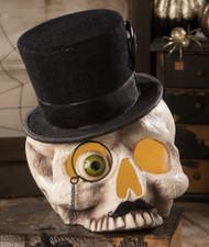 Bethany Lowe Halloween Mr Skeleton Skull - 25cm