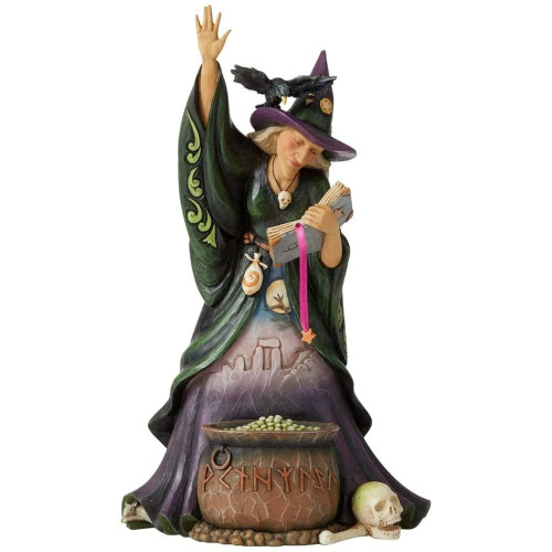 Jim Shore Scary Witch With Cauldron