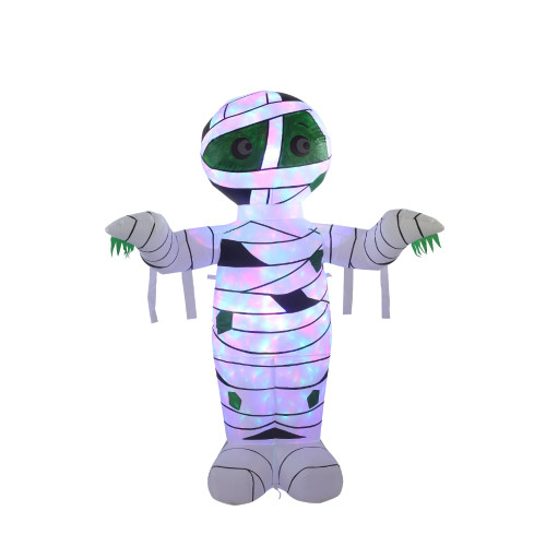 White Inflatable Mummy With Disco Lights
