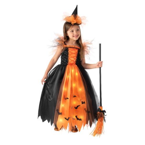 Orange Witch Light Up Costume