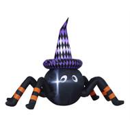 Black Halloween Inflatable Spider