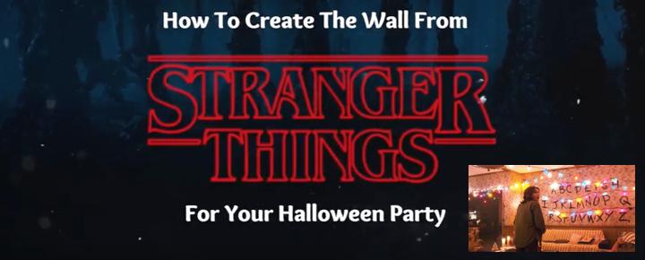 Stranger Things Wall for Halloween