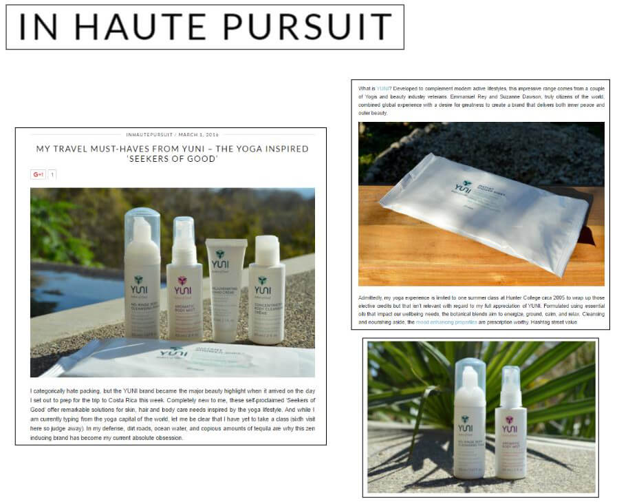 IN HAUTE PURSUIT- March 2016