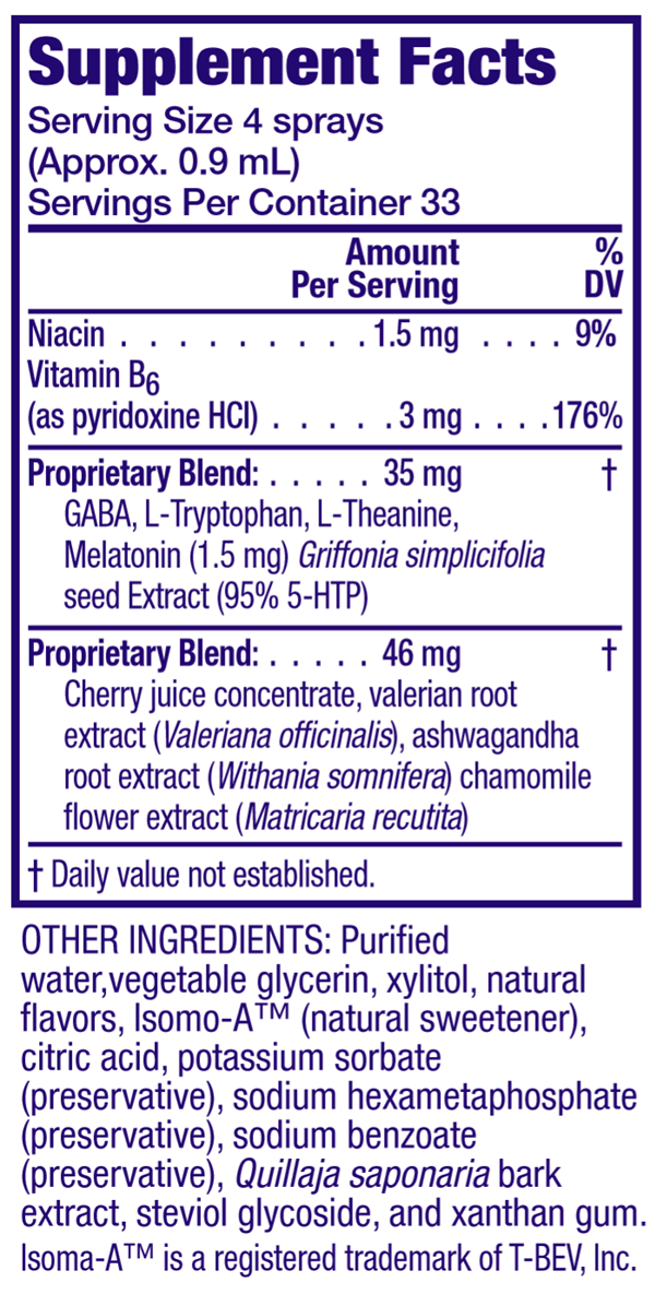 Supplement Facts and Ingredients