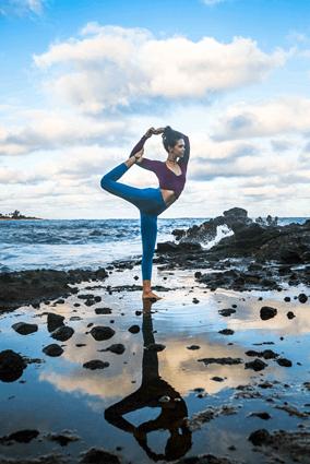 yoga in the tide pool