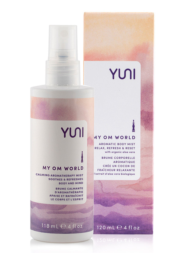 Transform energy and skin with a sensory envelope of freshness. Ideal after a yoga session or workout, this non-drying formula protects skin moisture while the anchoring blend of essential oils of geranium, bergamot, neroli and sage reconnects you with deep relaxation. | MY OM WORLD MY OM WORLD Aromatic Body Mist