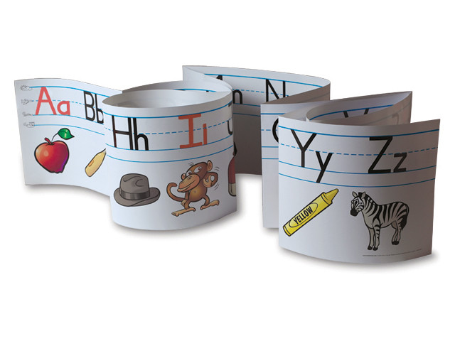 It is an image of Alphabet Strip Printable for uppercase