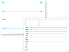 "The Dry Erase Writing Tablet is two-sided with a large writing grid for letter formation on one side and a grid for writing words and sentences on the other.   Included in all Fundations® Teacher's Kits and Student Kits.  SPECIFICATIONS: 12"" x 9""   ISBN: 9781567784800"