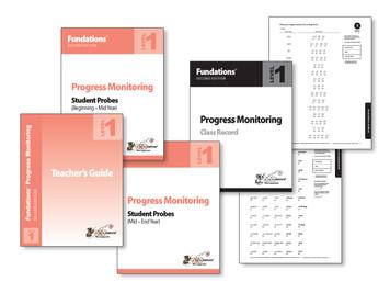 Fundations Progress Monitoring Level 1 (Second Edition)