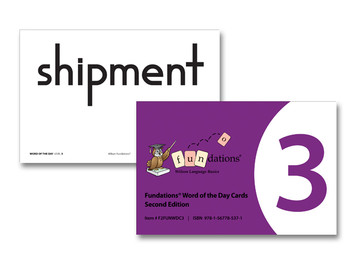 Fundations Word of the Day Cards 3 Second Edition