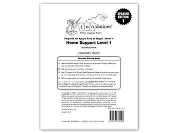 Home Support Pack 1 (Spanish) Second Edition