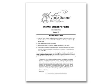 Home Support Pack 3 Second Edition