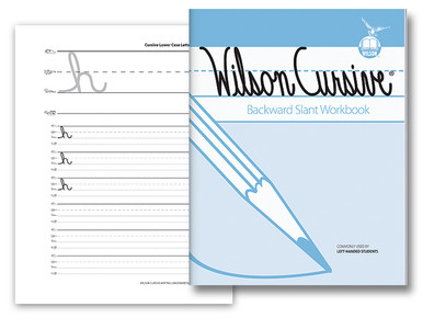 Wilson Cursive Backward Slant Workbook