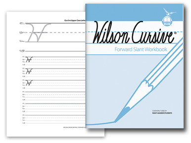 Wilson Cursive Forward Slant Workbook