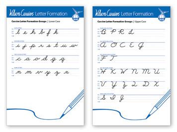 Wilson Cursive Letter Formation Poster