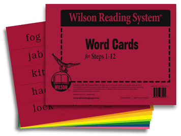 Word Cards (Steps 1-12)