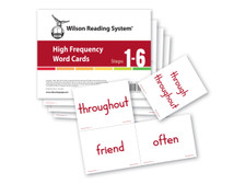 WRS High Frequency Word Cards (Steps 1-6), 4th Edition