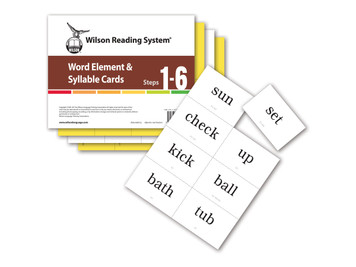 WRS Word Element & Syllable Cards (Steps 1-6), 4th Edition