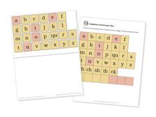 Level K Letter Tiles and Letter Board template