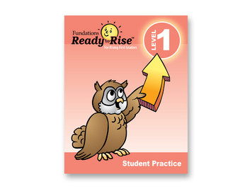 Fundations Ready to Rise Teacher Guide For Rising First Graders
