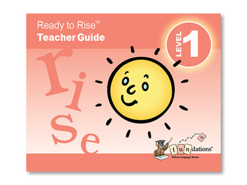 Ready to Rise™  Guide for Rising 1st Graders