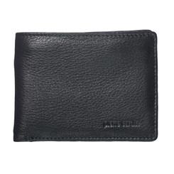 Pierre Cardin Italian Leather Billfold Mens Wallet in Black (PC1161)