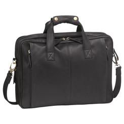 Pierre Cardin Leather Messenger/ Laptop Bag in Black (PC8866)