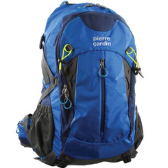 Pierre Cardin Blue Adventure Travel Nylon Laptop Backpack