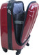 Pierre Cardin Computer Mobile Office Luggage Case in Red (PC 2213) - Open