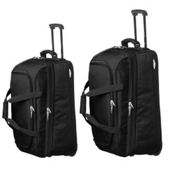 Pierre Cardin Large Soft Luggage Trolley Case in Black (PC2055-56)