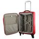 Pierre Cardin CABIN 4 Wheel Soft Luggage/Mobile Office in Red (PC2452) - Open