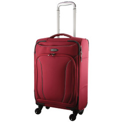 Pierre Cardin CABIN 4 Wheel Soft Luggage/Mobile Office in Red (PC2443) -