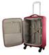 Pierre Cardin CABIN 4 Wheel Soft Luggage/Mobile Office in Red (PC2443) - Open