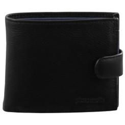 Pierre Cardin Italian Leather Mens Two Tone Wallet in Black/Navy (PC2631)