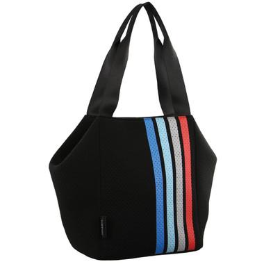 Milleni Neoprene Tote Handbag in Black (NP2780)