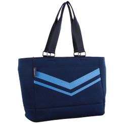 Milleni Neoprene Large Tote Handbag in Navy (NP2779)