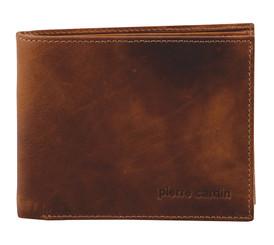 Pierre Cardin Rustic Leather Mens Wallet in Chestnut (PC2819)