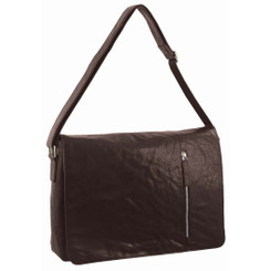 Pierre Cardin Rustic Leather Computer Bag in Brown (PC2798)