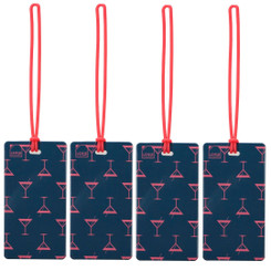 Luggage Tag | Martini (LC7615) - PACK OF 4
