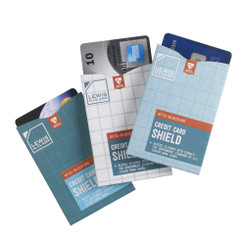 RFID-Blocking Credit Card Shields, 3-Pack (LC1209)