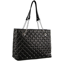 Milleni Stud Design Tote Bag in Black (NC2908)